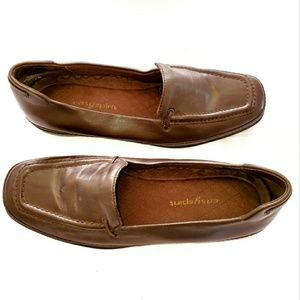Easy Spirit Leather Loafer Shoe Brown Size 7M